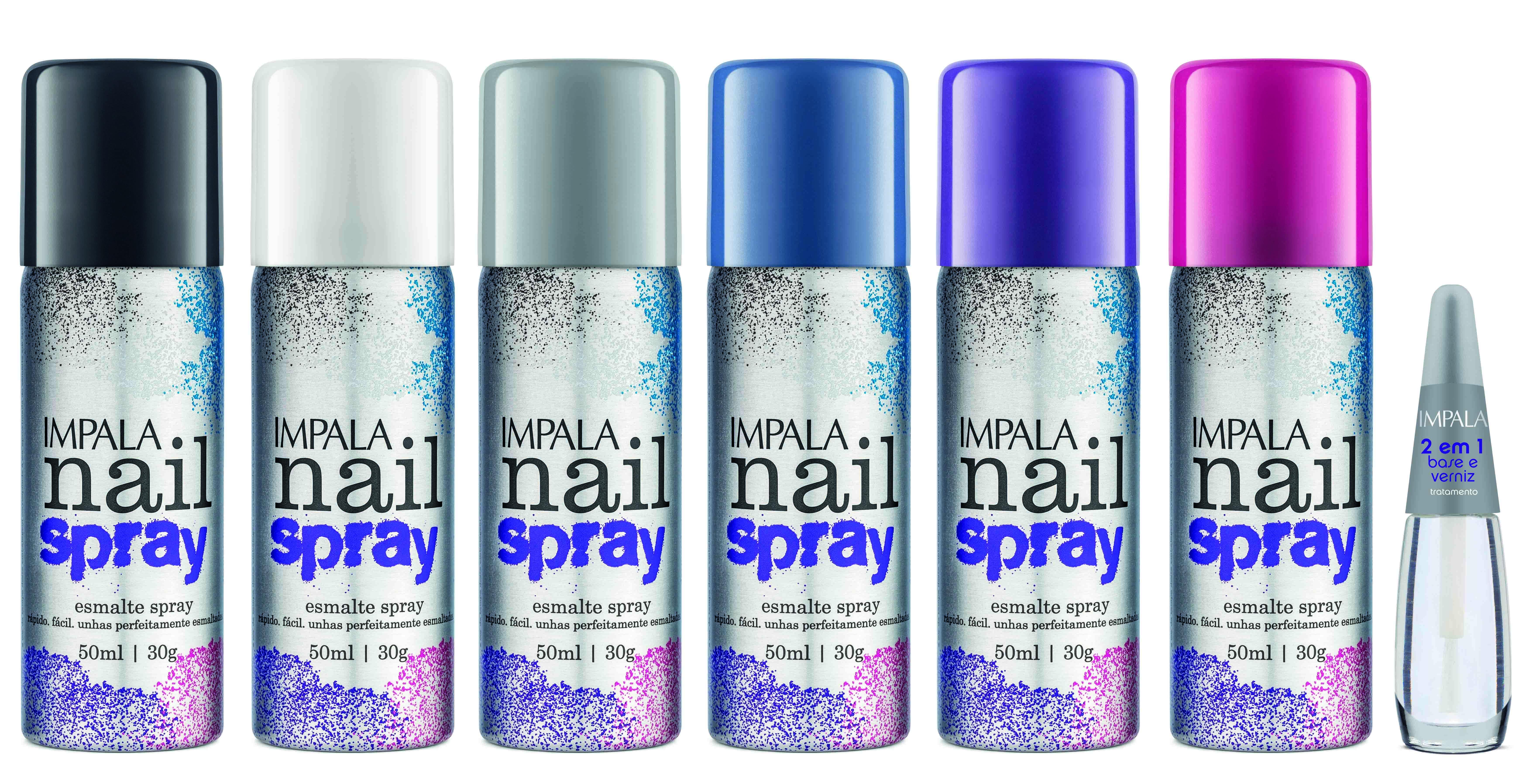 Impala lança linha de esmaltes em spray – A Coleção Nail Spray