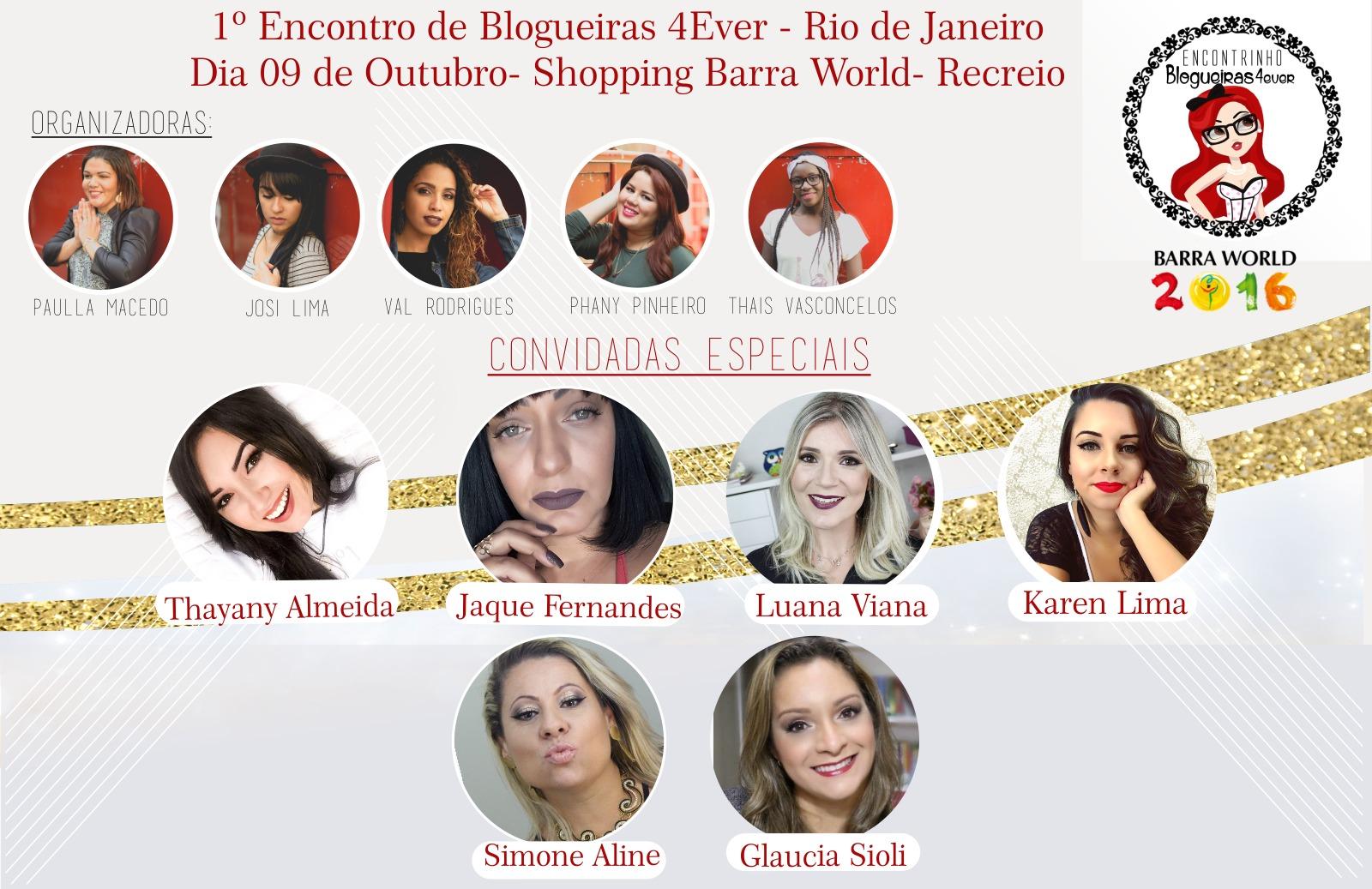 Convite para o Encontrinho Blogueiras 4Ever