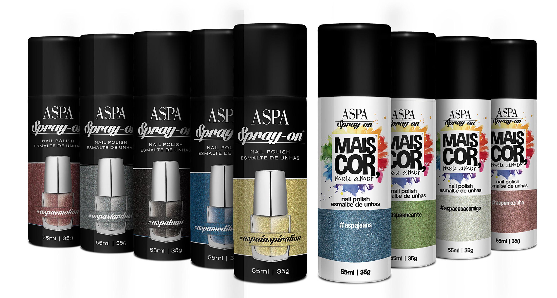 Esmaltes em spray: Chega as lojas o lançamento Aspa Cosméticos