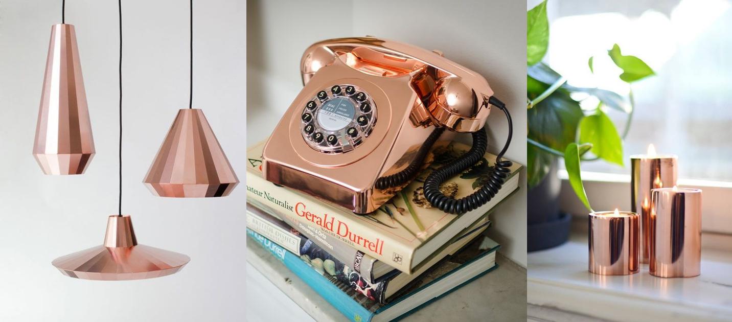 Rose Gold ou cobre na decoração – aposte nessa cor que é tendência